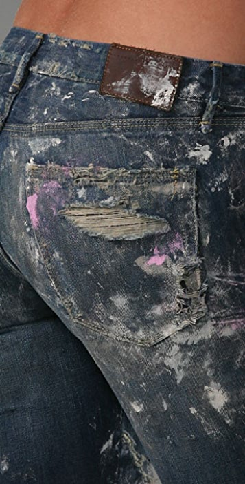 Madewell One-of-a-Kind Designer Distressed Jeans
