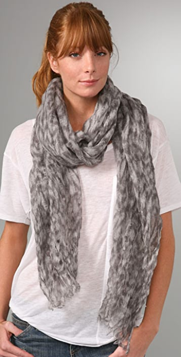 Madewell Moire Print Holey Long Scarf