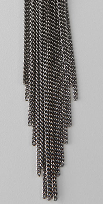 Madewell Gunmetal Chain Earrings