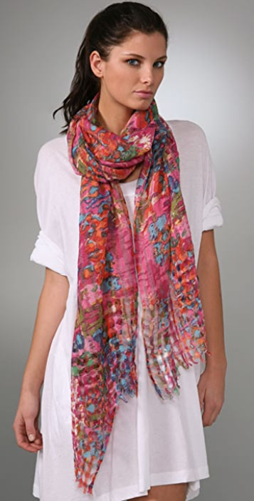 Madewell Psychedelic Forest Print Scarf