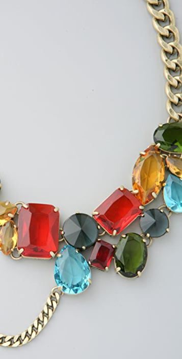 Madewell Dangly Rhinestone Necklace