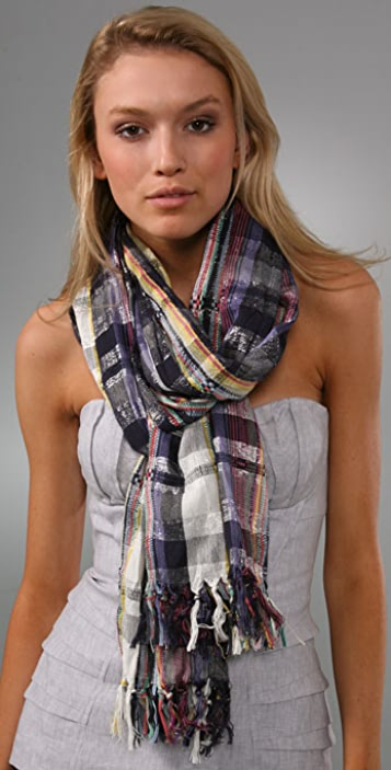 Madewell Crazy Metallic Plaid Scarf
