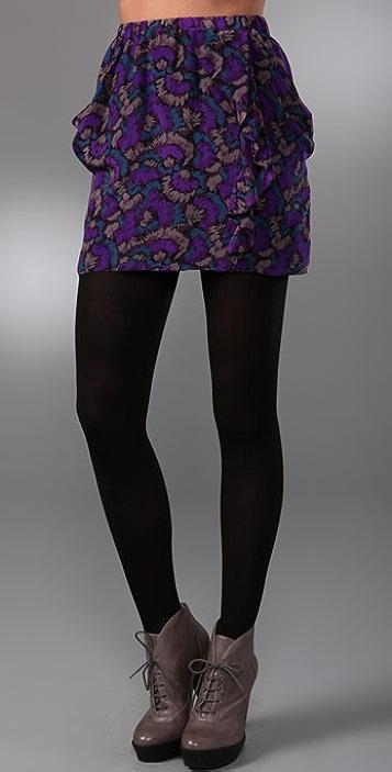 Madewell Feather Print Skirt