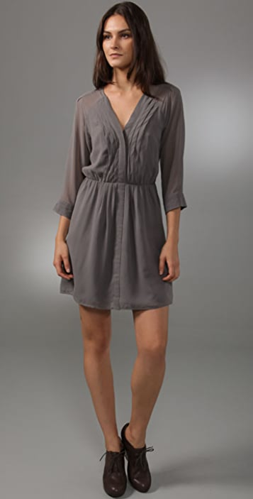 Madewell Swingy Silk Shirtdress