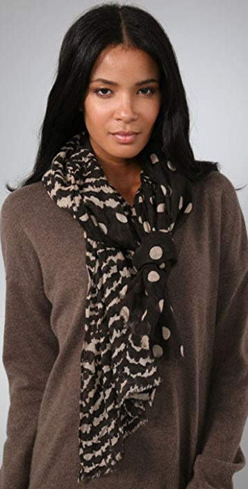 Madewell Polka Dot Blocked Scarf