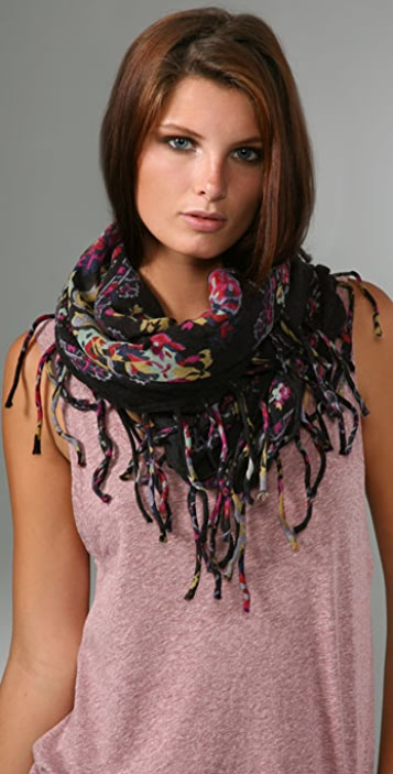 Madewell Floral Border Scarf
