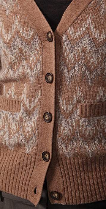 Madewell Patterned Sparkle Cardigan