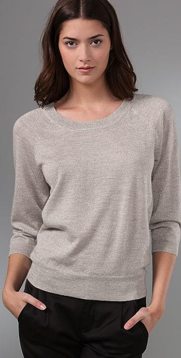 Madewell Plaited Sparkle Sweater