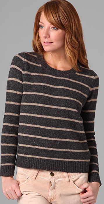 Madewell Striped Cabin Crew Neck Sweater