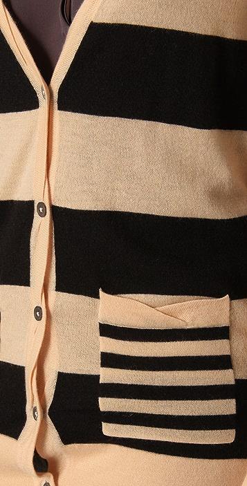 Madewell Striped Cashmere Lokni Cardigan
