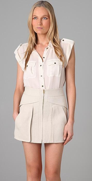 Madewell Silk Safari Shirt