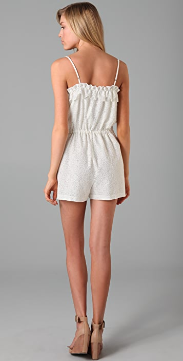 Madewell Lace Lakeshore Romper