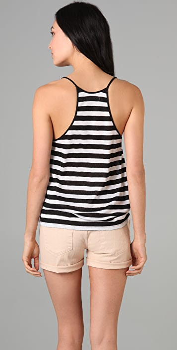 Madewell Oasis Lace Stripe Tank