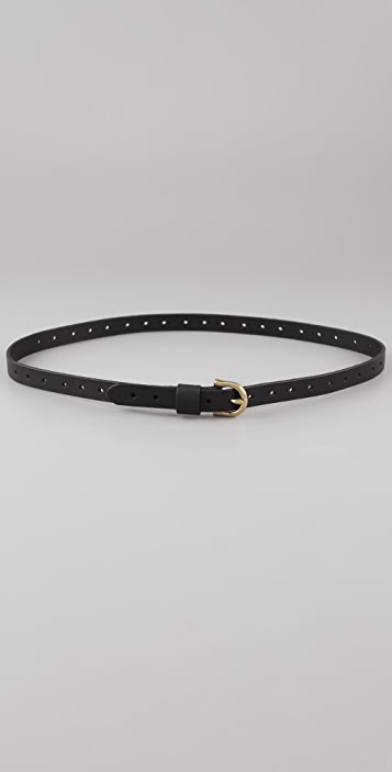 Madewell Skinny Leather Belt with Holes
