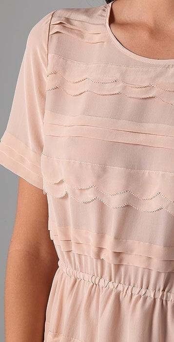 Madewell Silk Scallop Wave Dress