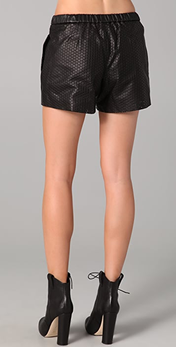 Madewell Laser Cut Leather Shorts