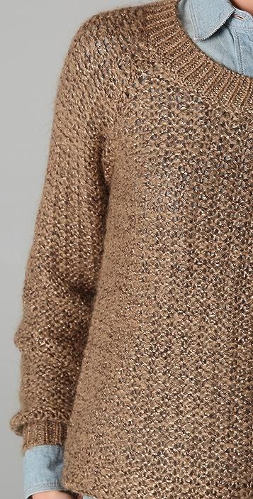 Madewell Metallic Crew Neck Sweater