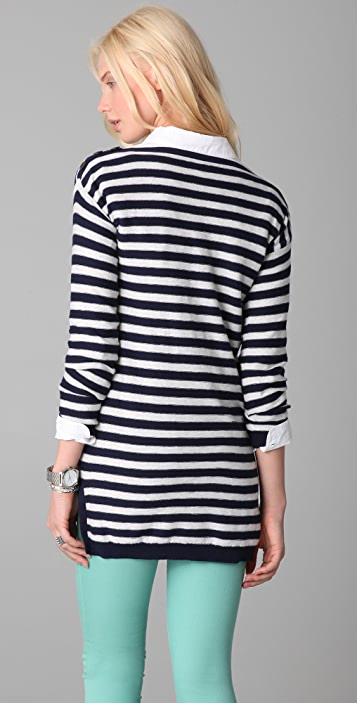 Madewell Striped Button Shoulder Tunic