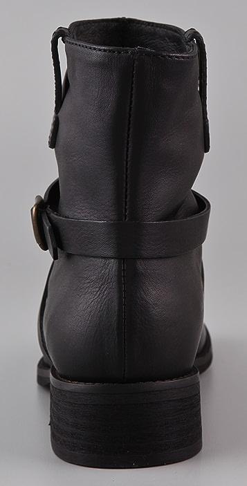 Madewell Cross Strap Flat Boots