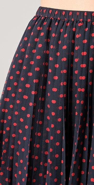 Madewell Judy Polka Dot Long Skirt