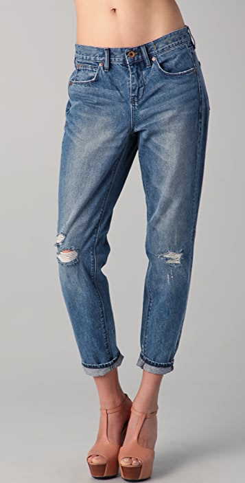 Madewell Destroyed Indigo Boy Jeans