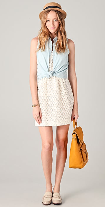Madewell Cecil Lace Cami Dress