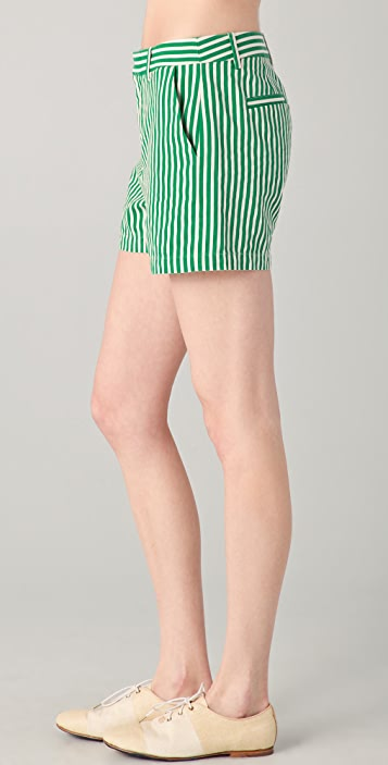 Madewell Striped Junie Shorts