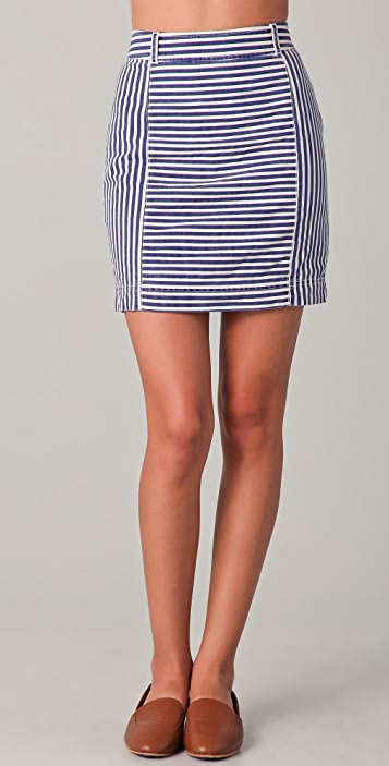 Madewell Shannon Striped Skirt