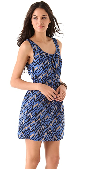 Madewell Chevrons Twisted Back Dress