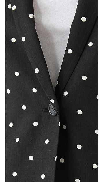Madewell Short Dotted Garcon Blazer