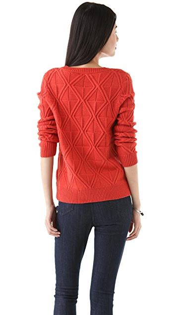 Madewell Megan Cable Pullover