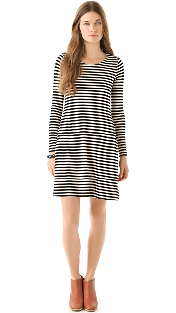 Madewell Marisa Striped Knit Dress