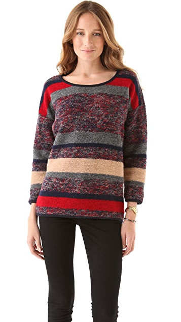 Madewell Sade Marled Striped Pullover