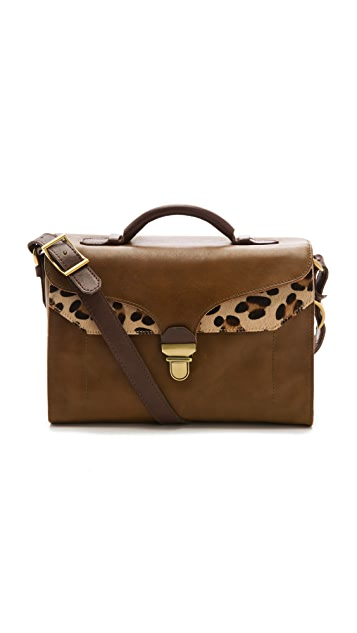 Madewell Lock Top Handle Haircalf Satchel