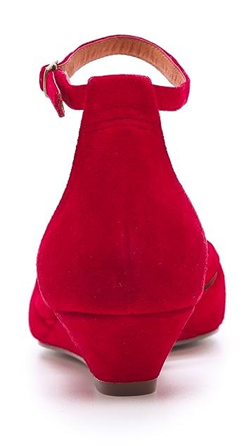 Madewell Peep Toe Tassel Wedges