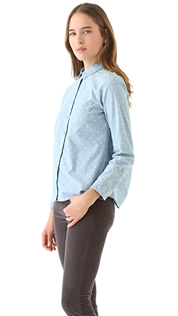 Madewell Dotted Chambray Shirt