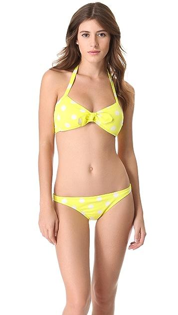 Madewell Sponge Polka Dot Halter Bikini Top