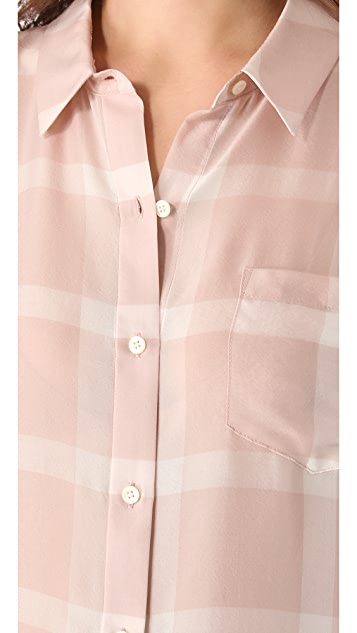 Madewell Silk Plaid Boy Shirt