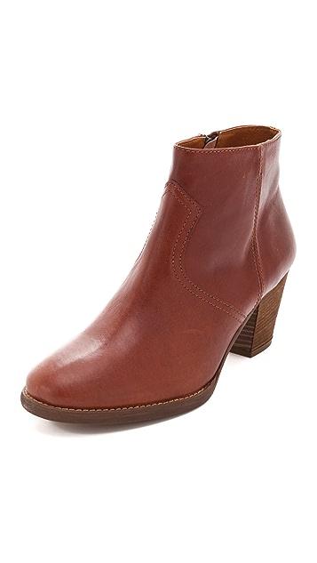 Madewell Leather Zipcode Booties