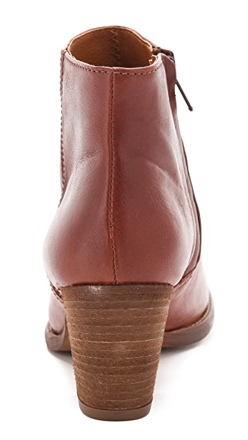 Madewell Leather Zipcode Booties
