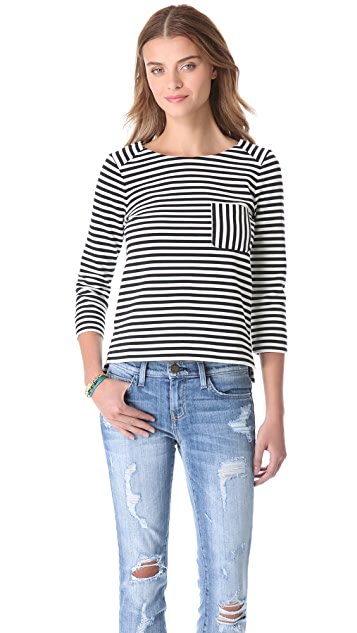 Madewell Striped Ponte Tee