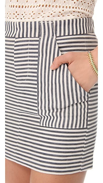 Madewell Pizete Striped Skirt