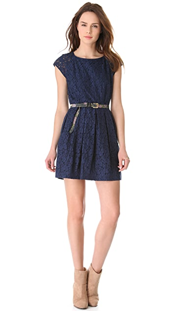Madewell Solid Rose Lace Dress