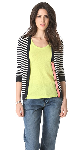 Madewell Striped Poppy Cardigan