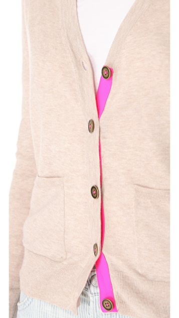 Madewell Poppy Cardigan with Contrast Placket