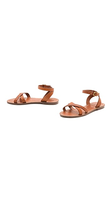 Madewell Crisscross Boardwalk Sandals