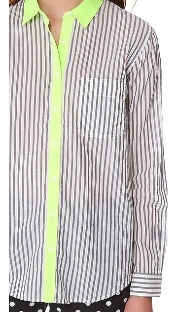 Madewell Striped Ex BF Shirt