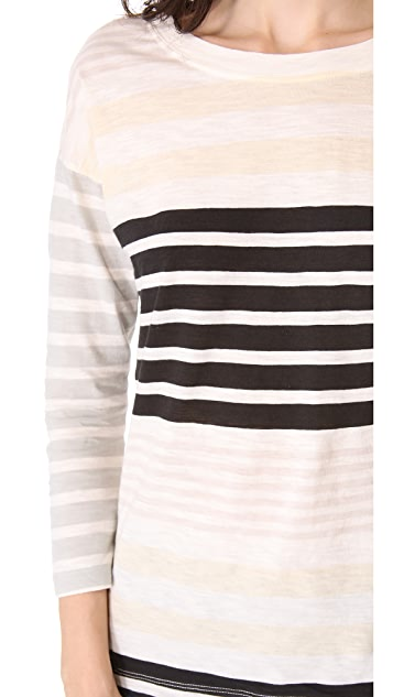 Madewell Striped 3/4 Sleeve Tee