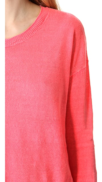 Madewell Garment Dyed Linen Pullover