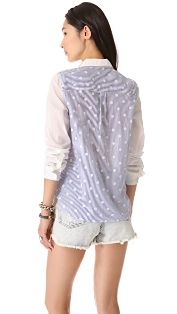 Madewell Eden Dotty Stripe Shirt